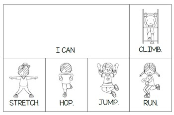"""What I Can Do Flip Books and Tracing Books (""""Can"""" and other verbs)"""
