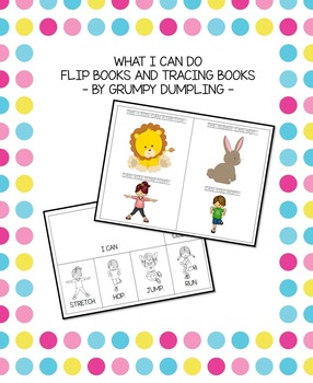 """What I Can Do Flip Books and Tracing Books (""""Can"""" and othe"""