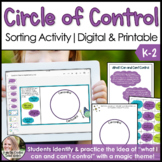 What I Can and Can't Control Lesson & Sorting Activity Distance Learning