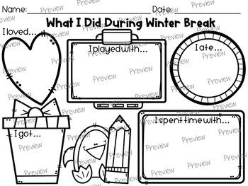 What I Did During Winter Break