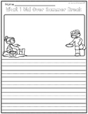 What I Did Over Summer Break Writing Prompt Template FREEBIE