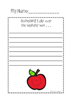 Apple Themed Writing Prompt (Weekend)