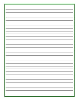 What I Got For Christmas - Writing Prompt Lined Paper