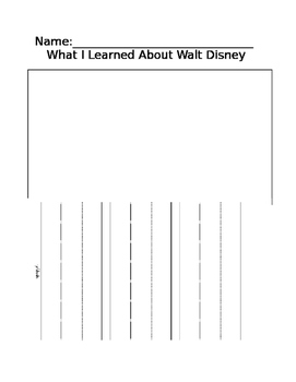 What I Learned About Walt Disney (Editable)