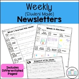 What I Learned This Week: Weekly, Student Made Parent Communication