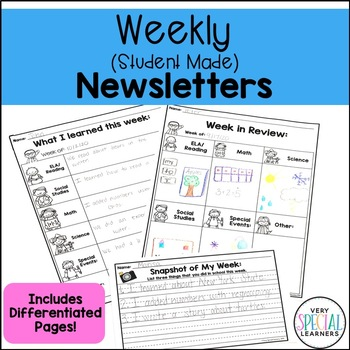 What I Learned This Week: Weekly, Student Made Parent Comm