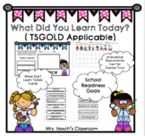 What You Learned Today Cards(Preschool TSGOLD Compatible)
