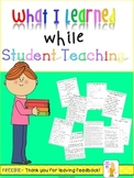 What I Learned While Student Teaching