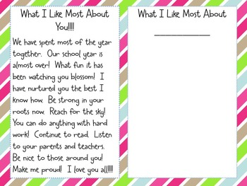 What I Like About You! An End of the Year FREEBIE!