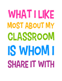 What I Like Most About My Classroom Poster