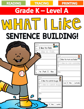 What I Like... Sentence Building LEVEL A