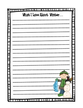 What I Love About Winter Stationary