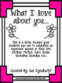What I Love About You~Mini Booklet for Special Person Moth