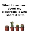 What I Love Most About My Classroom
