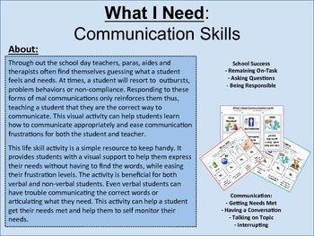 What I Need: Communication Life Skills