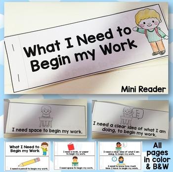 What I Need to Begin Work Desk Strip Mini Reader