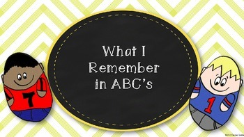 What I Remember in ABC's