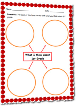 What I Think About 1st Grade Graphic Organizer