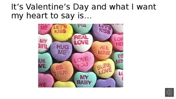 What I Want My Heart To Say Valentine Book