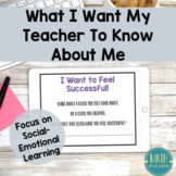 What I Want My Teacher To Know About Me Online Digital Learning