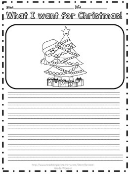 What I Want for Christmas Writing