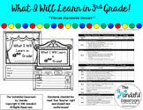 What I Will Learn in 3rd Grade - Back to School Florida St