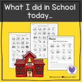 Boardmaker-What I did in school today...