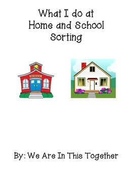 What I do at Home or School Sorting (Autism)