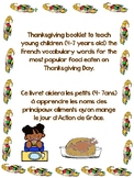 What I eat on Thanksgiving Day/Ce que je mange le jour d'A