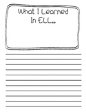 What I learned in ELL.....