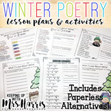 What I love About Winter - Poetry Unit