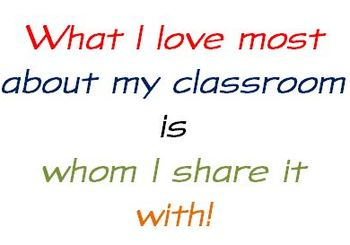 What I love most about my classroom...