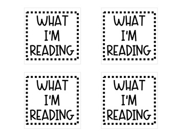 What I'm Reading Target Pocket Labels Freebie