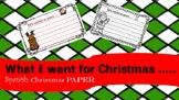 What I want for Christmas SPANISH / Esta navidad yo quiero...