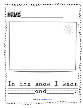 What I wear in the snow writing