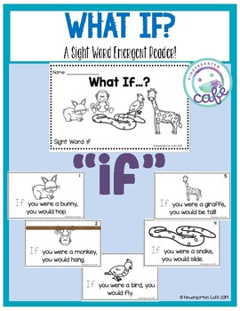 "What If? A Sight Word Emergent Reader ""if"""
