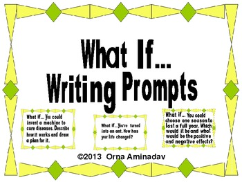 What If...  10 Writing Prompts