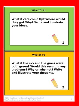 What If? Fun Writing Prompts for Kids Use Response Forms or Own Journal