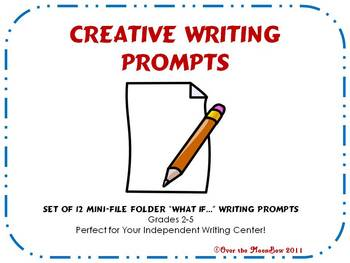"""What If...?"" Writing Prompts Mini-Folders"