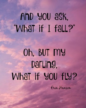 What If You Fly?  Classroom Poster Classroom Management PBIS