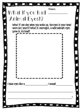 What If You Had Animal Eyes? Writing Prompt