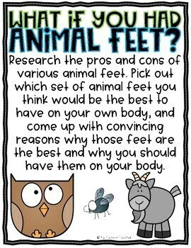 What If You Had Animal Feet Writing Project