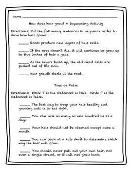 What If You Had Animal Hair?! by Sandra Markle Activity Packet