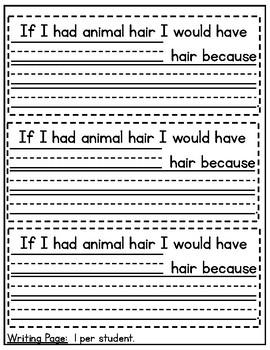 What If You Had Animal Hair? Craftivity