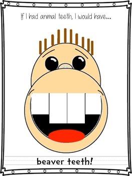 What If You Had Animal Teeth?  Craftivity/Template
