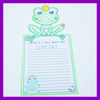 Leap Year Writing Prompt Craftivity FREEBIE