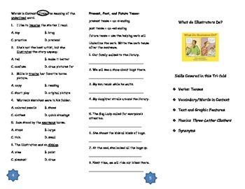 What Illustrators Do? Comprehension Tri-fold: Journeys Grade 3; Lesson 7