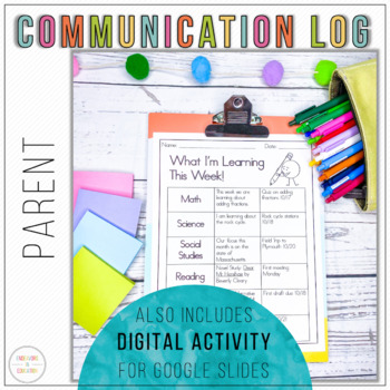 Parent Communication Log **From the Students**