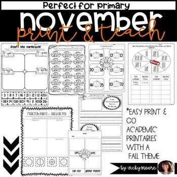 November Print Go Teach