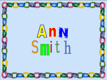 What' In A Name Activity ( Writing A Name Activity/Kindergarten & 1st Grade)